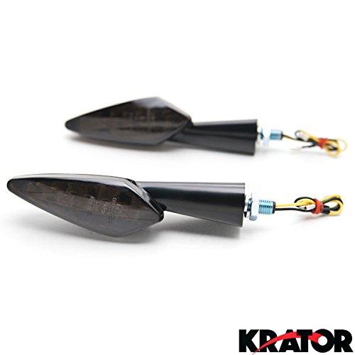Krator NEW Black LED Turn Signal Indicator Lights Lamp For Ducati Monster 696 750 848 851 900 1000 (Ducati Monster 900 compare prices)