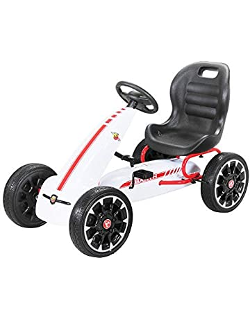PEQUENENES Kart Coche de Pedales Fiat Abarth de CARS12V, Ruedas neumaticas, carenado de Proteccion