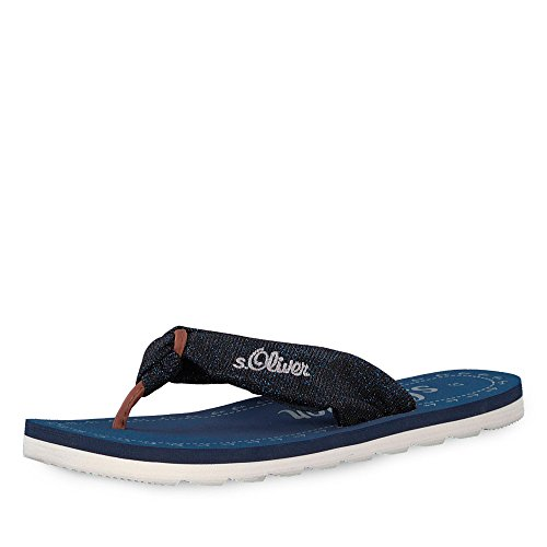 s.Oliver Women's Clogs Blue 6vLfUa5nF