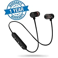Quick Shop Bluetooth Headset V4.0 with Mic Wireless Magnatic Headphone Compatible with All Android & iOS Mobile (Smartphones).