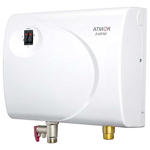 Atmor AT-S901-13 Tankless Electric Hot Water Heater, White