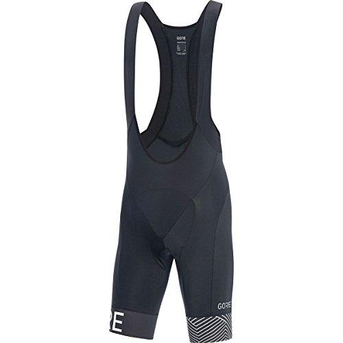Bib Wear Bike Gore (Gore Wear Men's Breathable Cycling Bib Shorts, With Seat Insert, C5 Optiline Bib Shorts +, Size: L, Color: Black/White, 100162)
