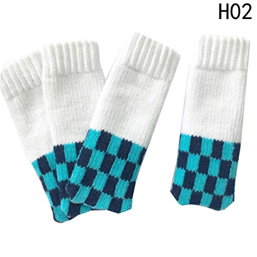 4 Pcs/Set Anti-Skid Thick Knitted Dining Table Chair Leg Socks Stool Mat Protective Case H05 Other