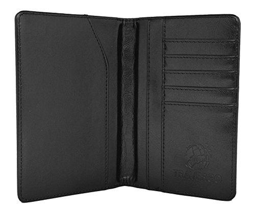 Go Green Power TR1240BK Durable Leather Passport Holder - Black,