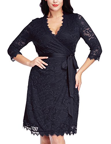 Buy belted lace dress plus size - 2