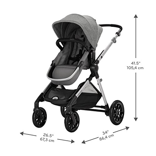 41 - Pivot Xpand, Modular Baby Stroller, Converts To Double Stroller (Additional Toddler Seat Not Included), Percheron Gray