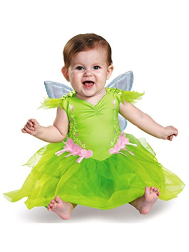 Disguise Baby Girls' Tinker Bell Deluxe Infant Costume, Green, 6-12 Months ()