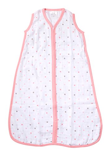 aden by aden + anais Wearable Blanket, Oh Girl! - Pink Polkadot, medium