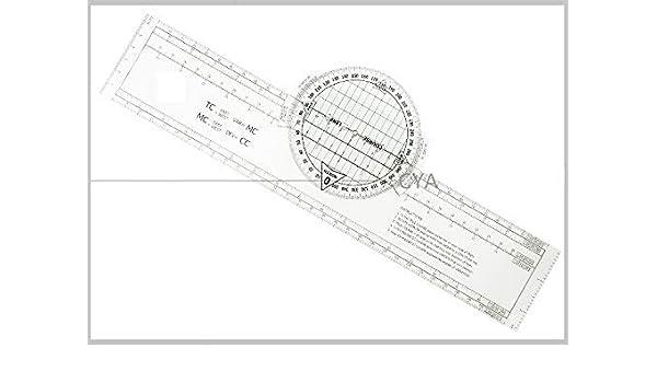 Plotter bretón de plástico táctico para Pilotos, VFR, navegación paralela, 360 Unidades: Amazon.es: Deportes y aire libre