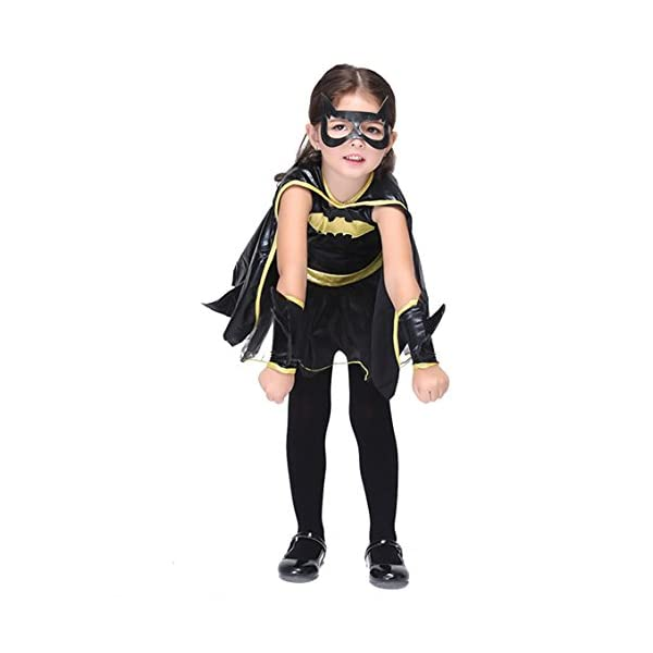 Zeamo Little Girl Halloween Batman Dress Up Cosplay Costume