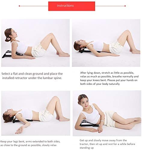 REFURBISHHOUSE Massaggiatore per Lllenamento Della Schiena con Magnete Vertebra Cervicale Trattore Supporto Lombare e Cervicale per ttrezzatura Muscolare ntidolorifica