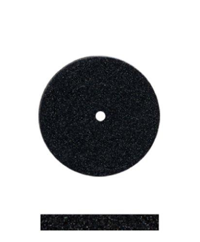 Dedeco 7152 Universal Silicone Wheel, Medium, 11/16'' x 3/32'', Black (Pack of 100)