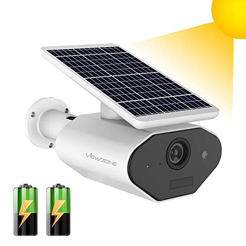 Outdoor Security Camera, Solar Panel Wireless Security Camera, 960P Waterproof Outdoor Surveillance IP Camera, Battery Powered Security Camera Outdoor,Night Vision,Motion Detection,Two Way Audio