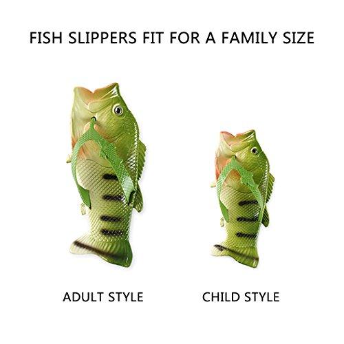 VENI MASEE Fish Flip Flops Fish Slippers Beach Slides Sandals Men Women Kids Summer 7 Colors(24-45) Orange 4EloOC