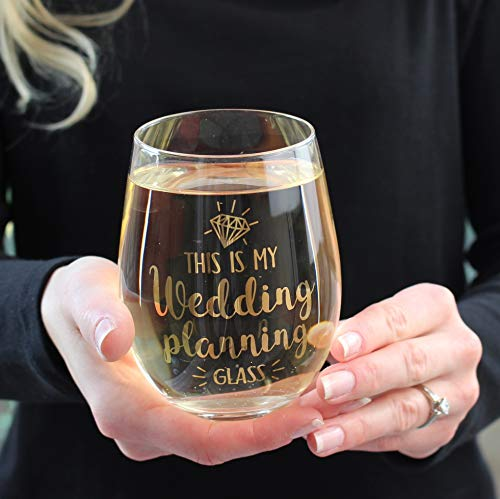 Lillian Rose G117 WP Wedding Planning Stemless Wine Glass, 4.75'' H Gold by Lillian Rose (Image #3)