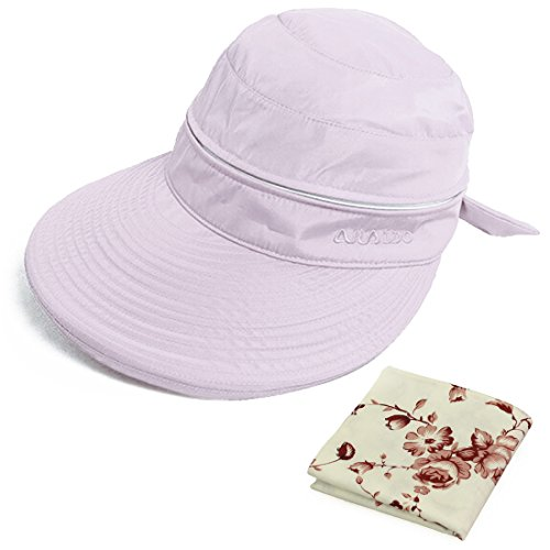 kilofly UV Protection Wide Brim Summer Lightweight 2in1 Visor Sun - Visor Floral