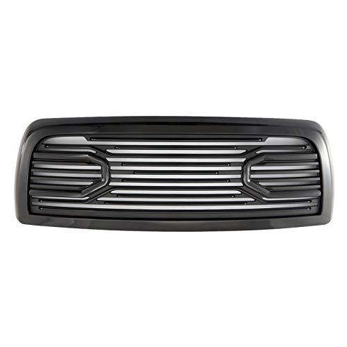 Paragon Front Grille for 2010-18 Dodge Ram 2500/3500 - Gloss Black RAM Style Full Grill Grilles