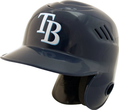 Tampa Bay Rays Rawlings Cool Flo Mini Baseball Batting Helmet - with stand