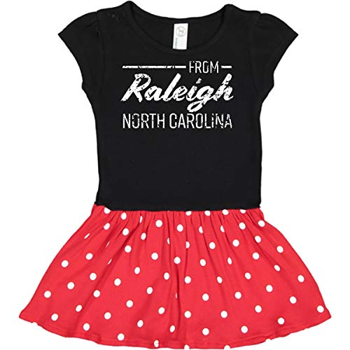 inktastic from Raleigh North Toddler Dress 2T Black & Red with Polka Dots