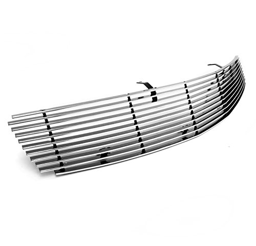 ZMAUTOPARTS Front Upper Billet Grille Grill Insert Polish 1Pc For G35 Sedan 4Dr