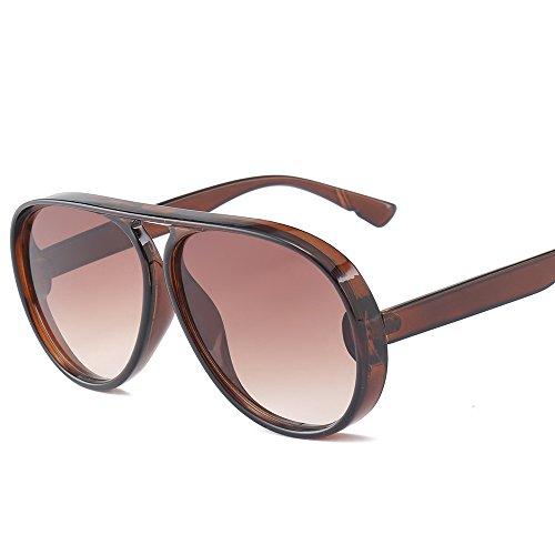 UV de los Las Mujeres 100 C4 del Haz Gafas de AT9819 de Zygeo C3 Luxury Oculos Aviador Marco Azul Sol de Unisex Marca Gafas Ancho Nueva Hombres Sol Brown T¨¦ Simple de de 58qv8F0wn