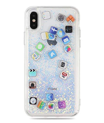 UnnFiko Liquid Glitter Case for iPhone 6
