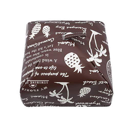 LANWF Foldable Food Covers Dust Bowl Cover Keep Warm Dishes Reusable Kitchen Table Accessories Tools,Brown 1,S by LANWF (Image #1)