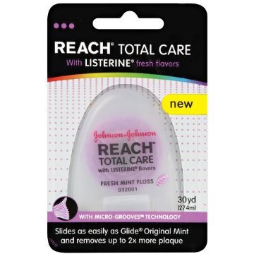 Reach Total Care floss with Listerine Fresh Flavors 30-Yard (Pack of 18)