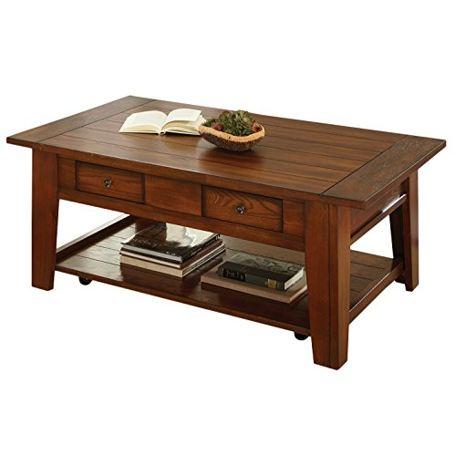 Steve Silver Company DeSoto Cocktail Table with Casters, 50″ x 32″ x 20″