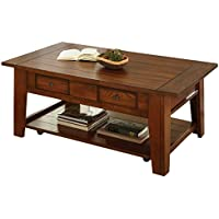 Steve Silver Company Desoto Cocktail Table with Casters, 50 x 32 x 20