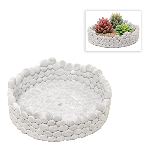 MyGift Decorative Cement Design Planter