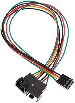 F Fityle 1 Pieza Cable de Alimentación para Ventilador de PC de ...