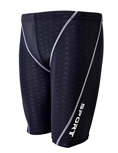 Easea Men`s Rapid Swim Splice Quick Dry Jammer Swimsuit Black X-Large