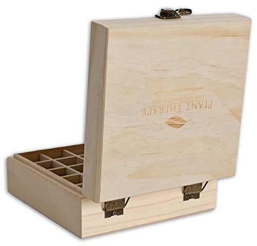 Plant Therapy Wooden Essential Oil Box Holds 25 Bottles Size 5 15 mL