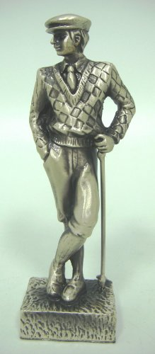 Male Golfer Statue - Holding Club Head in Left Hand (Item # 1145)