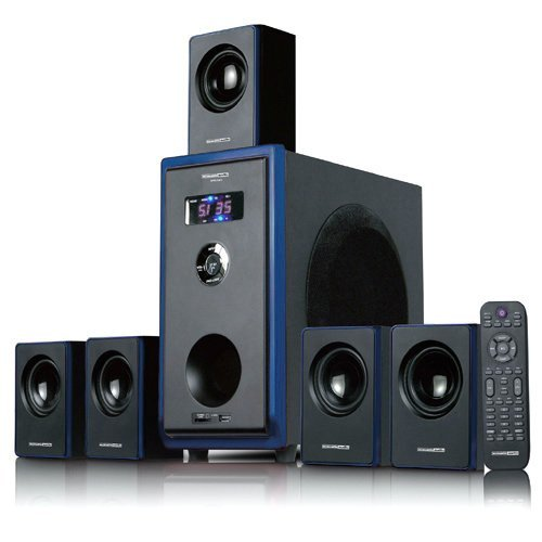 Great Deal! Acoustic Audio AA5102 Bluetooth 5.1 Speaker System 5 Extension Cables Home Theater