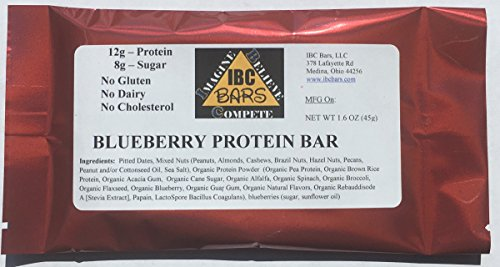 IBC Blueberry Protein Bar, (Case of 12 Bars) -- ALWAYS 10...