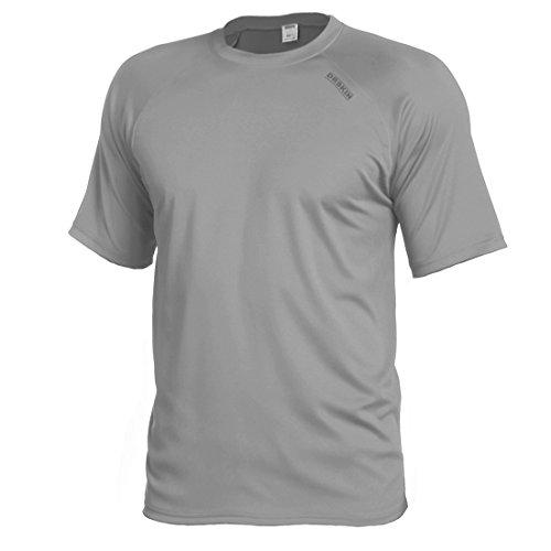 DRSKIN Cool Dry Short Sleeve Men Rash Guards UPF 50+ (BSSG03, XL) by DRSKIN