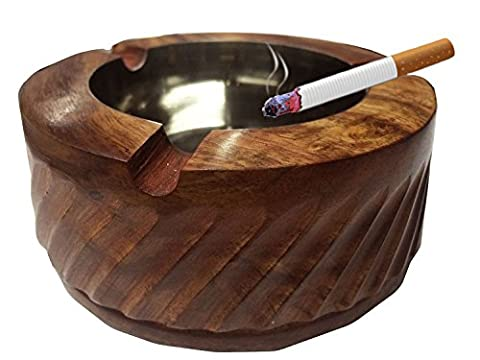 Special Gifts at Good Friday.Wooden Premium Quality Antique Ashtray, Beautifully Handicrafts and Strip Design,smoking ashtray