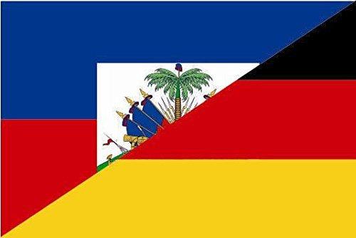 U24 Motorradflagge Haiti-Deutschland Fahne Flagge 20 x 30 cm