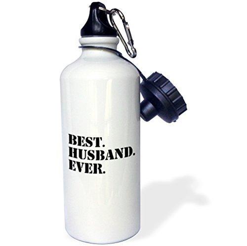 Mosonスポーツウォーターボトルギフト、Best Husband Ever Fun Romantic Weddedラブギフトの彼と結婚の記念日またはValentines Dayホワイトステンレススチールウォーターボトルforレディースメンズ21oz B07BJZ54YS