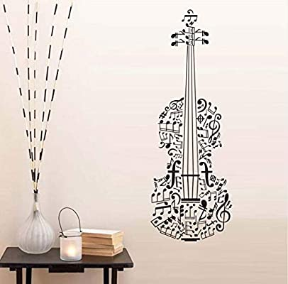 xlei Etiqueta De La Pared Decoración para El Hogar Notas Musicales ...