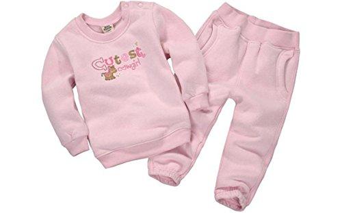 1800 Costumes Uk (ODFAPP Adorable 2016 Spring&Autumn Children Boy&Girl Clothing Set Baby Girls Casual Sports Animal Pattern Costume Kids Clothing Set Suit 15-333 Pink18M Cool)