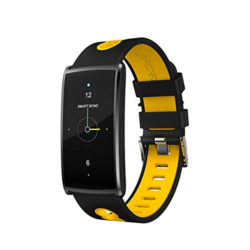 JOLLY Fitness Tracker Activity Watch and Heart Rate Monitor, Waterproof Touch Screen Smart Bracelet for Women, Men, Kids with Sleep Monitor (Color : Yellow)