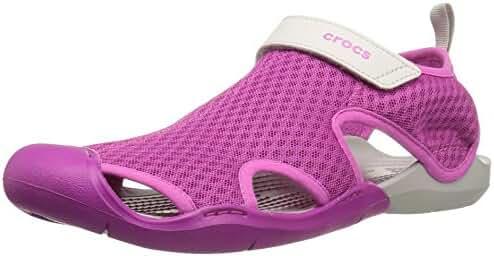 crocs Women's Swiftwater Mesh W Flat Sandal
