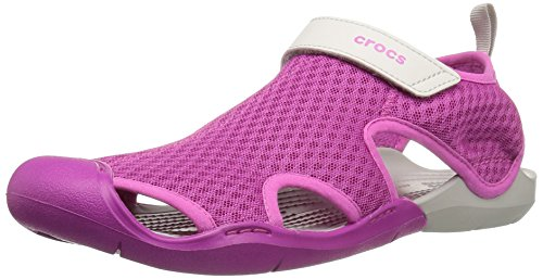crocs Womens Swiftwater Mesh Sandal Vibrant Violet