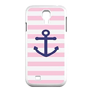 Nuktoe Pink navy anchor Case For Samsung Galaxy S4 With Unique Design With White