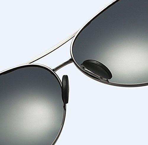 Vista Sol TAC Polarizada Y Visible Metal De Perspectiva Yellow Sol De Gafas La UV400 Color Diurna Conducción Luz De De Doble Nocturna De 99 Gafas Blue QQBL BxYwdqfB