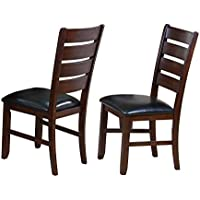 Crown Mark 2152 Bardstown Side Chair, Espresso, 2 Per Box