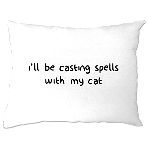 I'll Be Casting Spells With My Cat Halloween Witchcraft Magic Pillow (Mens Halloween Costume Ideas Last Minutes)